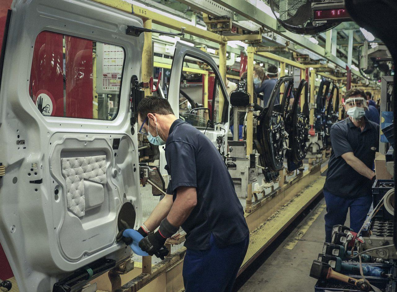 De productie van ford start weer